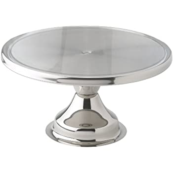 winco cks13 stainless steel round cake stand 13inch