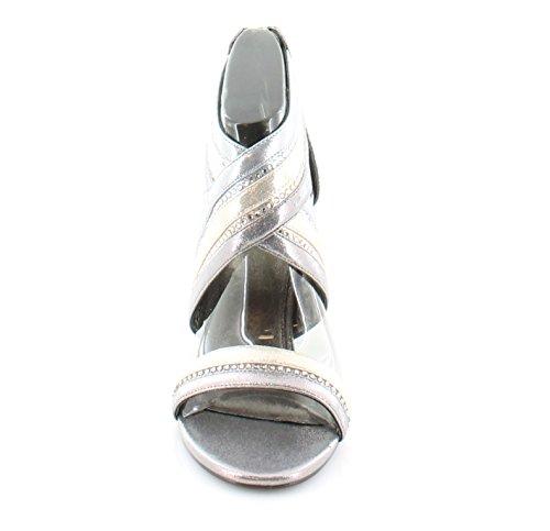 Adrianna Papell Womens Evonne Heeled Sandal, Metallic Multi 6.5 M US