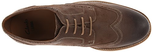 Clarks Hombres Raspin Brogue Oxford Taupe Suede