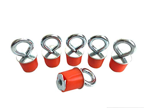 (Motobiker 6pcs/Set Polaris Lock & Ride Lock and Ride ATV Tie Down Anchors Types Point Expansion Sportsman RZR ACE ATV ATV's (Orange))