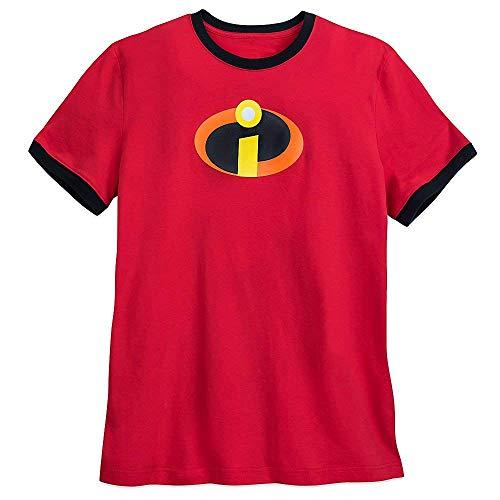 Disney Incredibles Logo Ringer T-Shirt for Men 2XL RED