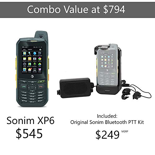 Sonim XP6 | 4G LTE | 8GB, 1GB RAM | 4800 mAh battery | Car/Truck PTT Combo Kit | (Black/Yellow) - AT&T Unlocked