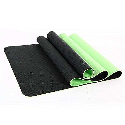 AILI Tapis de yoga de remise en forme, tapis d'exercice de soutien plat intérieur masculin et féminin, sac de rangement de mode