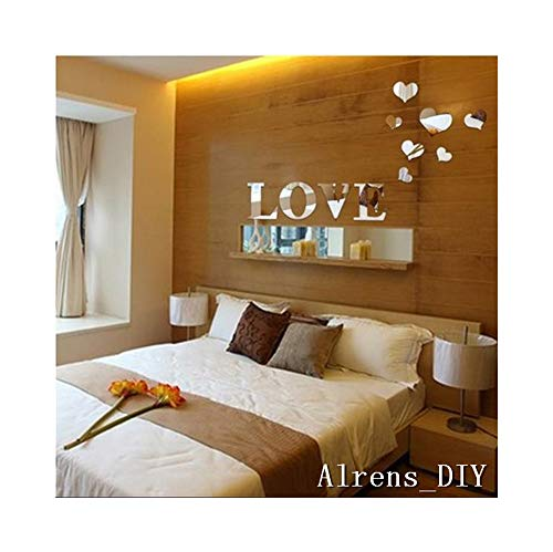 Alrens_DIY 11pcs Love Letter Hearts DIY Patterns TV Backgrou