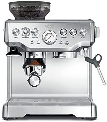 SAGE SES875 the Barista Express, Cafetera espresso, Cappuccinatore, 15 Bar, Acero Inoxidable
