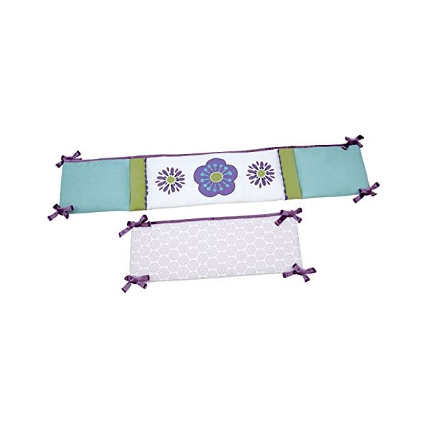 Carter's Zoo Jungle/Safari 4 Piece Crib Bumper, Floral/Lavender/Aqua/White