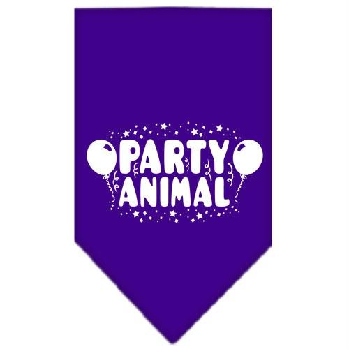 Mirage Pet Products Party Animal Screen Print Bandana for Pets, Large, Purple