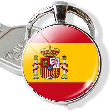 CLEARNICE Llavero Países Bandera Llavero España Italia Portugal ...