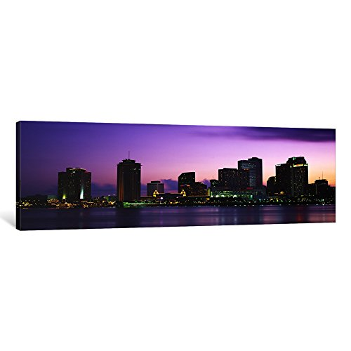 - iCanvasART 1 Piece Dusk Skyline, New Orleans, Louisiana, USA Canvas Print by Panoramic Images, 1.5 by 48 by 16-Inch