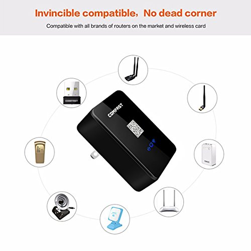 COMFAST 150Mbps 3-In-1(Super Intelligent Wireless Repeater, Wireless Router and Wireless AP) by ELEGIANT Multifunctional Wall-Plugged Smart Wireless Repeaters for Home Travel Office Hotel by ELEGIANT (Image #3)