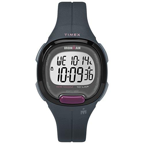 - Timex Women's TW5M20000 Ironman Transit Mid-Size Gray/Purple Resin Strap Watch