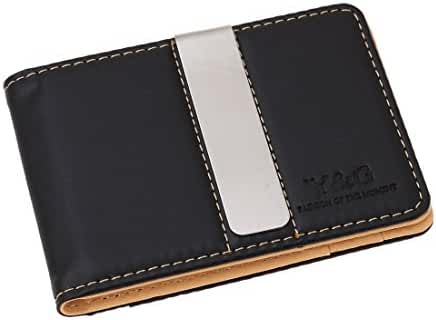 Y&G YCM1301 Classic Fashion Leather Wallet-Money Clip Credit Card Holder, Beige