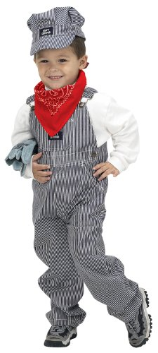 Aeromax Jr. Train Engineer Suit with cap and accessories, size (Train Engineer Toddler Costume 2t)