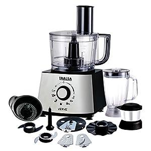 Inalsa Verve 800W Mixer Grinder, Black, Silver