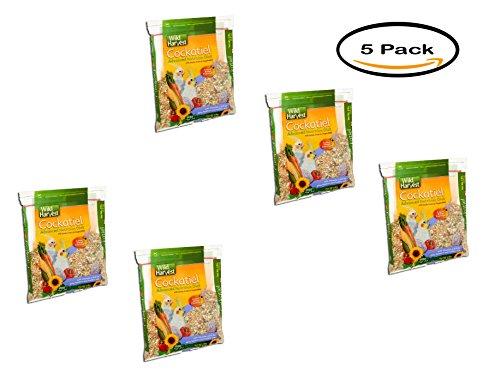 PACK OF 5 - Wild Harvest Cockatiel Advanced Nutrition Diet Blend, 4 lb