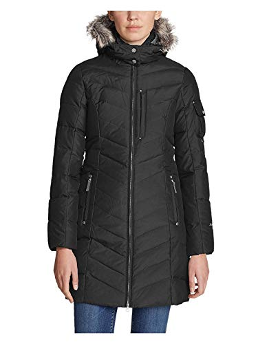 Eddie Bauer Women's Sun Valley Down Parka, Black Regular XL Regular (Black Down Parka)
