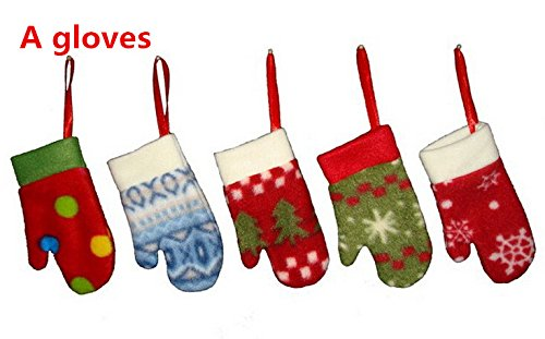 ArMordy(TM) 100Pcs/lot Christmas Hanging Stockings Embroidered Tree Santa Ornament Snowman XMAS Festive Christmas Decoration