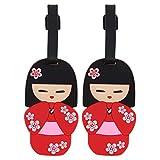 Kokeshi Luggage Tag Suitcase Labels - Set of 2 - Kokeshi