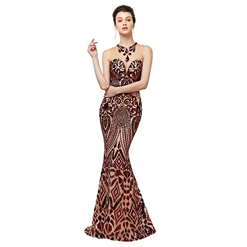 - Leyidress Women's Sexy Sequins Trumpet Mermaid Dresses Evening Dress Long Party Prom Gown 12