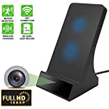 1080P WiFi Spy Wireless Charger Hidden Camera with Motion Detection Invisible Lens Video Recorder for Home Security and Surveillance(Wireless Charger Dock)-Without Night Vision