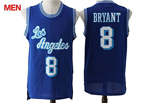 a4ecd4d2b ... Los Angeles Lakers Kobe Bryant 8 Blue New Stitched Jersey Mens XL ...