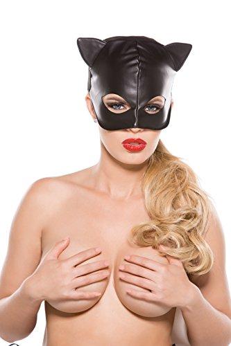 Allure Lingerie Faux Leather Cat Mask