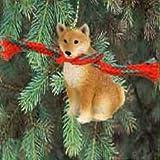 1 X Shiba Inu Miniature Dog Ornament