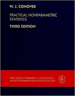 Book Practical Nonparametric Statistics, 3rd by W. J. Conover (1999-12-14)