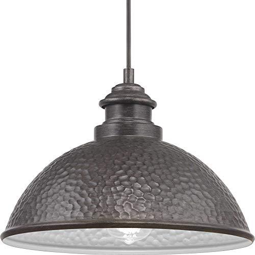 Progress Lighting P550032-103 Englewood Collection One-Light Hanging Lantern, Antique Pewter