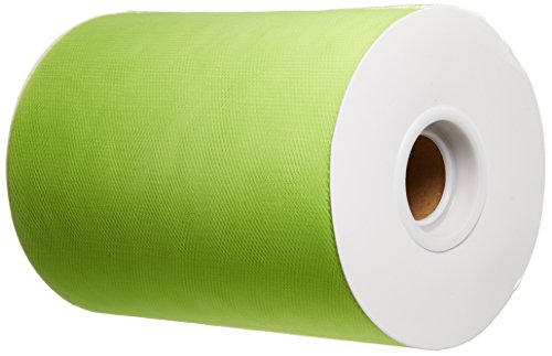 BBCrafts Apple Green Polyester Tulle Roll 6 inch 100 Yards ()
