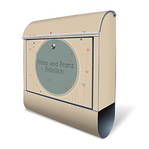 Banjado Design Briefkasten Personalisiert Mit Motiv Wt Grosse Liebe