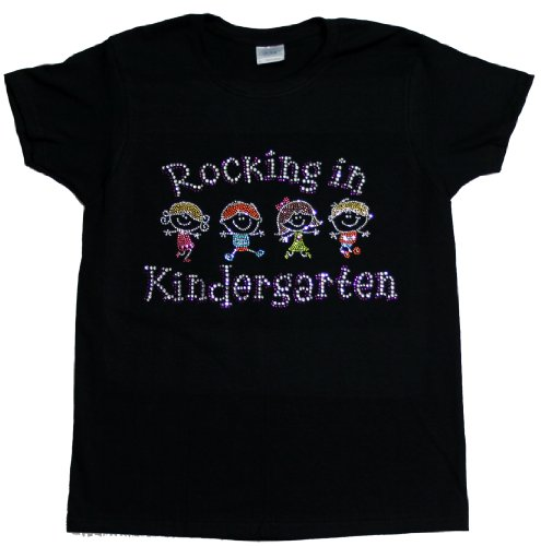 A+ Images, Inc. Rocking in Kindergarten Rhinestone T-Shirt – Black, Large, Bags Central