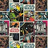 "1 Yard - Star Wars ""Comic Strip"" 100% Cotton Fabric - Officially Licensed (Great for Quilting, Sewing, Craft Projects, Throw Pillows, Quilts & More) 1 Yard X"
