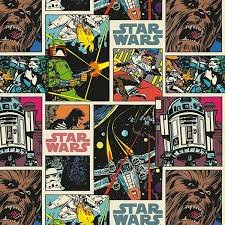 """1 Yard - Star Wars """"Comic Strip"""" 100% Cotton Fabric - Officially Licensed (Great for Quilting, Sewing, Craft Projects, Throw Pillows, Quilts & More) 1 Yard X"""