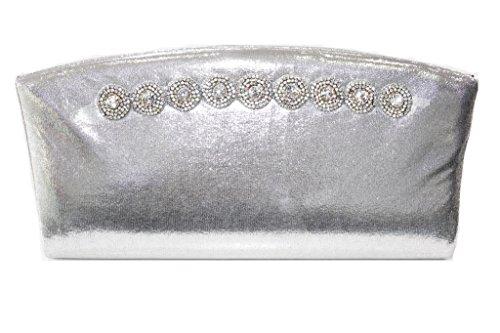 Wear & Walk UK - Zapatos de tacón  mujer Bag-Silver