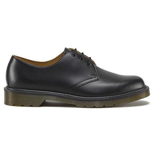 Dr. Martens Mens 1461 PW Three-Eye Shoe,Black-5 UK
