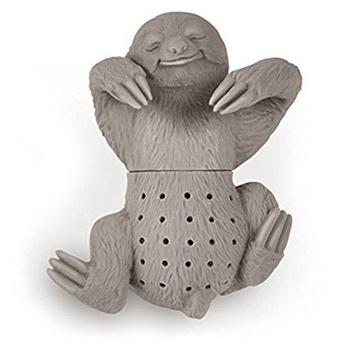 Learn More About Elibeauty Silicone Sloth Tea Infuser Strainer Grey