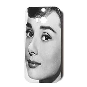 HTC One M8 Case Audrey Hepburn 3D Unique Star Protective Cellphone Case