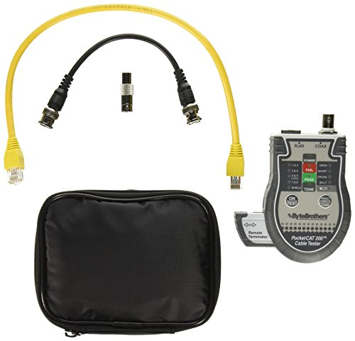 Triplett Byte Brothers Pocket CAT LAN Tester for RJ45, CAT 5/6, and Coax Cables with Instant Pass/Fail Results - Connection Cat5