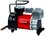 Einhell Car Compressor CC-AC 35/1012V, 0-10Bar Pressure Gauge, 35Litres Per Minute Flow Rate, Connection via the Cigarette Lighter with 4Additional Adaptors