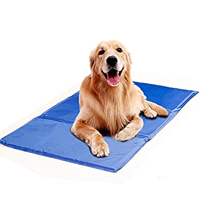 Pet Cooling Mat, Soft Comfortable Pet Chilly Gel Mat, Folding Self Cooling Pet Bed for Keeping Dogs Cool in Summer