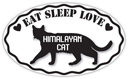 (Lovable Petz - EAT SLEEP LOVE HIMALAYAN CAT Cats Pets Sticker - Car Laptop Wall Sticker Decal - 3