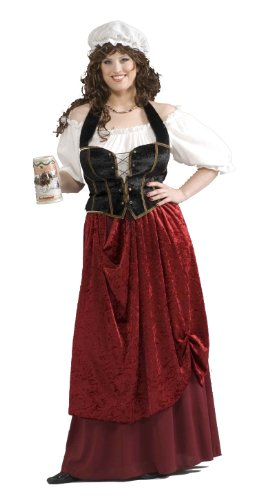 Forum Novelties Women's Tavern Wench Plus Size Costume, Multicolor, (Halloween Bar Maid Costume)