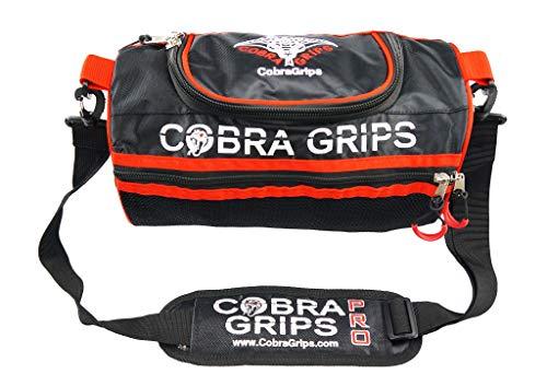 Cobra Grips Mini Gear Bag for Lifting Grips & Multipurpose More Adjustable Shoulder Strap (Black, One Size)
