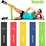Letsfit Resistance Loop Bands, Resistance Exercise Bands for Home Fitness, Crossfit, Stretching, Strength Training, Physical Therapy, Natural Latex Workout Bands, Pilates Flexbands