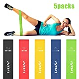 Letsfit Resistance Loop Bands, Resistance Exercise Bands for Home Fitness, Stretching, Strength Training, Physical Therapy, Natural Latex Workout Bands