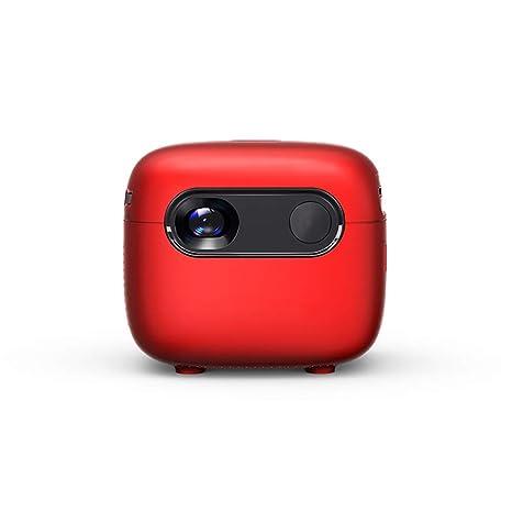 HUATINGRHPM Proyector, Mini proyector portátil teléfono móvil con ...