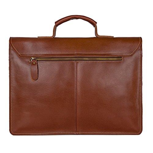 Sucastle ® Herren Leder Umhängetasche Schultertasche Kuriertasche Messenger Bag Große Kapazität Vintage Design Perfektes Geschenk(36x27x10cm )