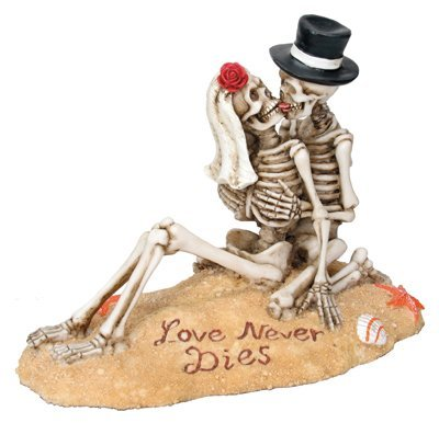 SUMMIT COLLECTION Beach Lovers - Love Never Dies Collectible Skeleton Themed Figurine ()
