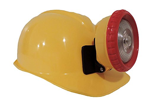 [Childrens YELLOW Construction Lighted Miner Hard Hat] (Coal Miner Costume)
